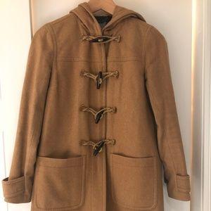 J.Crew Wool Cashmere Toggle Coat, Size 0